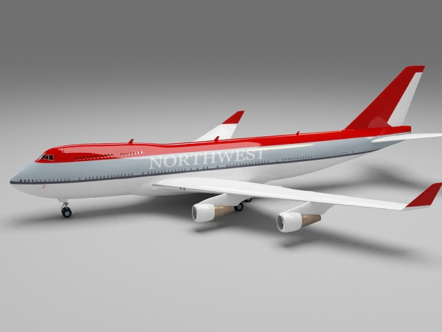 Northwest Airlines Plane 3d model