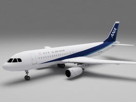 Japan Airlines Airbus A320 3d model