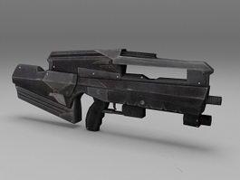 Police SWAT Rifle 3d model