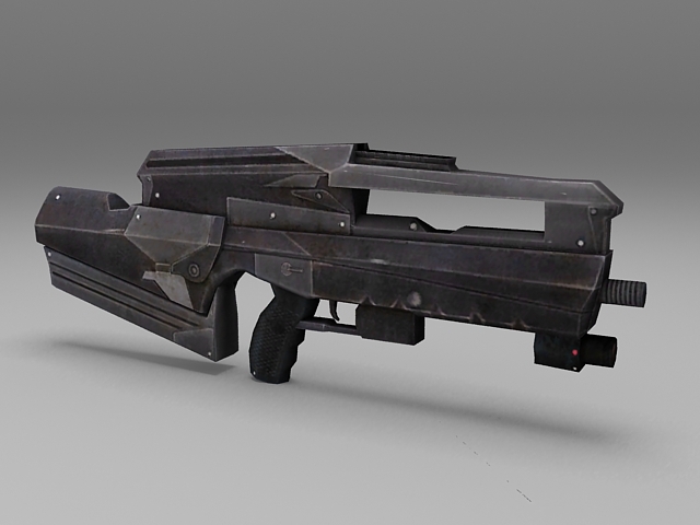 Police SWAT Rifle 3d model