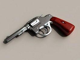 38 Caliber Revolver 3d model
