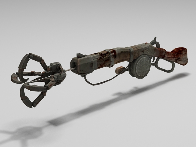Hunter grapple gun 3d model