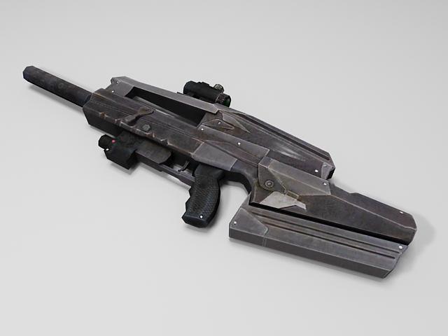 Semi-Automatic rifle 3d model