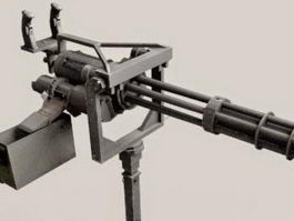 M134 Minigun machine gun 3d model