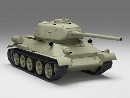 Russian T-34 Tank 3d model