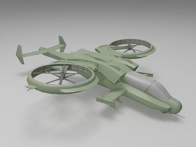 Military transport helicopter 3d model