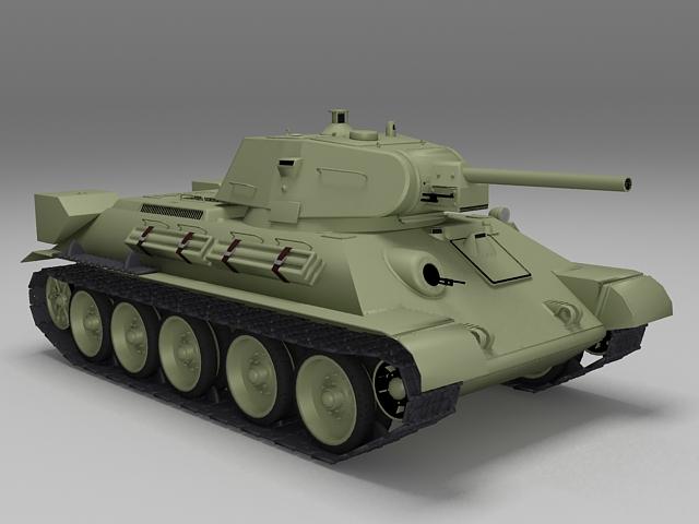 T-34 Soviet medium tank 3d model