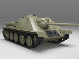 Soviet SU-85 tank destroyer 3d model