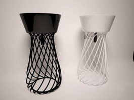 Decorative wire basin stand 3d model