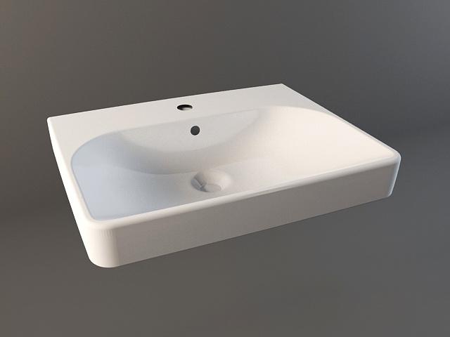Bathroom countertop sink 3d model