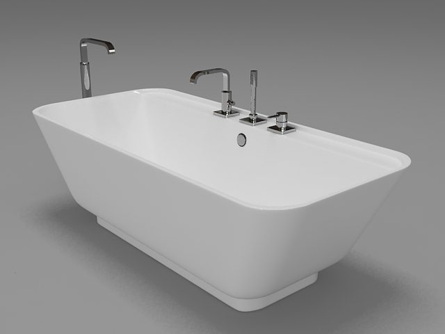 free standing tub 3d model 3ds max autodesk fbx files free download