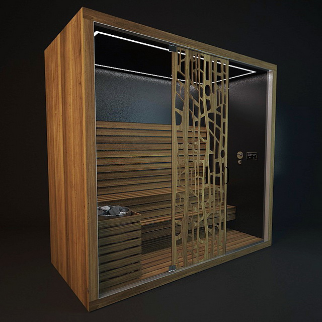 Infrared sauna room 3d model