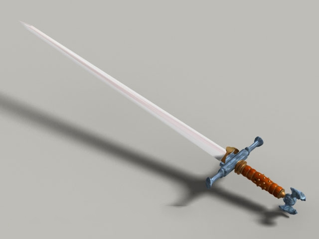 Medieval England sword 3d model