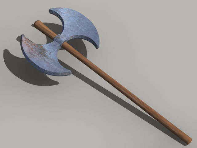Old battle axe 3d model
