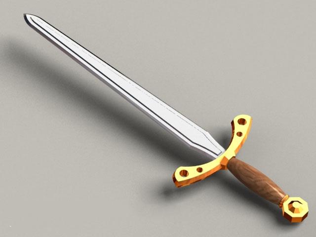 Egyptian short sword 3d model