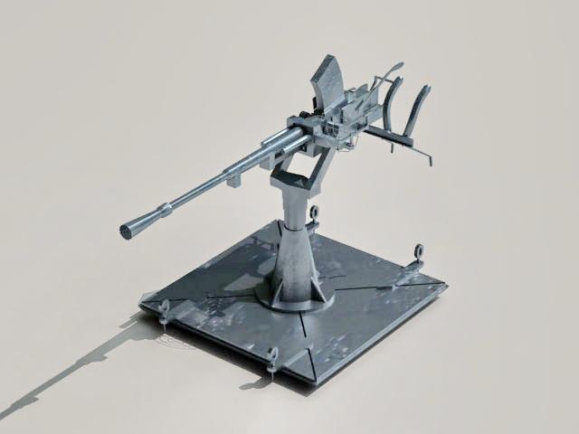 Machine gun turret 3d model