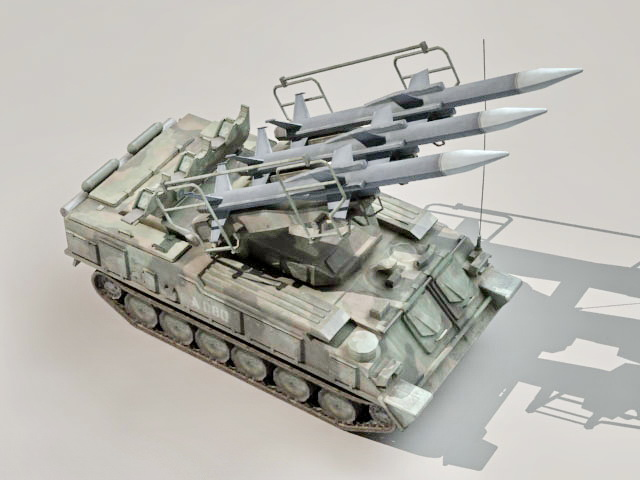 2K12 Kub mobile surface-to-air missile system 3d model