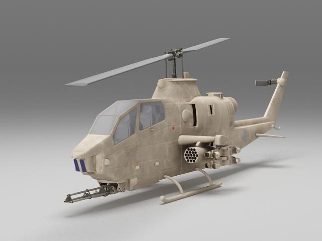 Cobra gunship helicopter 3d model