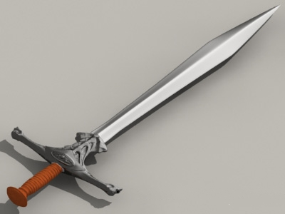 Hobbit goblin sword 3d model