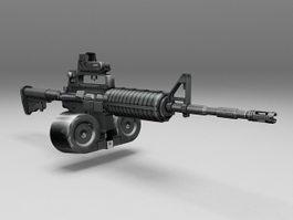 M4A1 Assault Rifle 3d model
