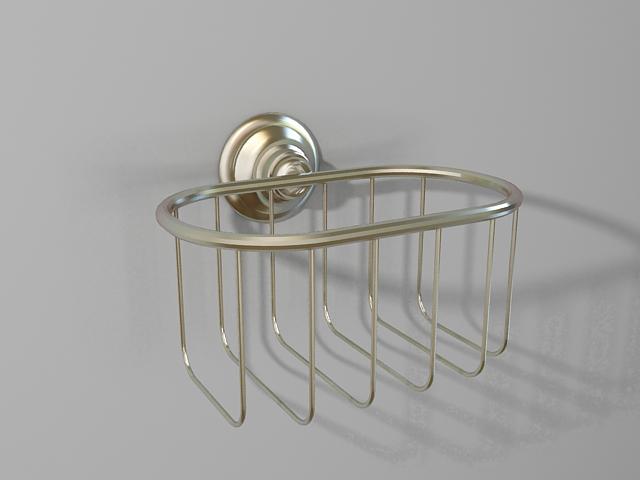 Wall mount soap basket 3d model