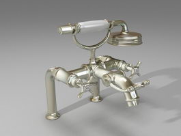 Rim-mounted bath mixer 3d model