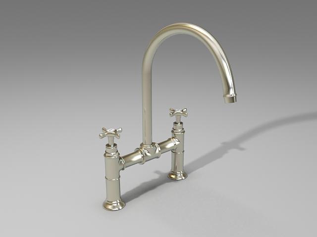 Sink Tap Modell : Kitchen sink tap mixer d model studio ds max files free