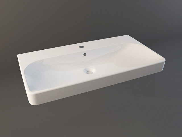 Countertop bathroom sink 3d model