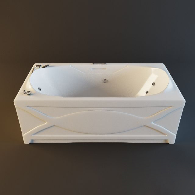 Bathtub Jacuzzi Tub 3d model