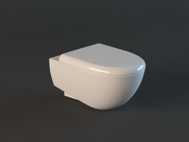 residential wall hung toilet 3d model 3ds max files free