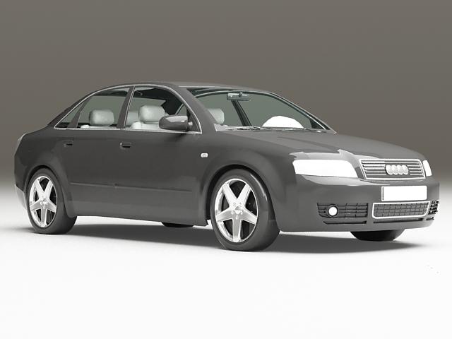 Black Audi A4 3d Model 3ds Max Files Free Download