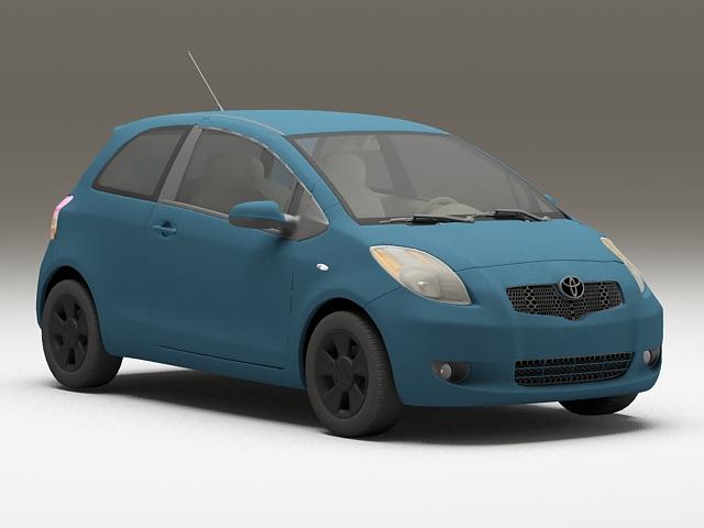 toyota echo hatchback 3d model 3ds max files free download modeling 36054 on cadnav. Black Bedroom Furniture Sets. Home Design Ideas