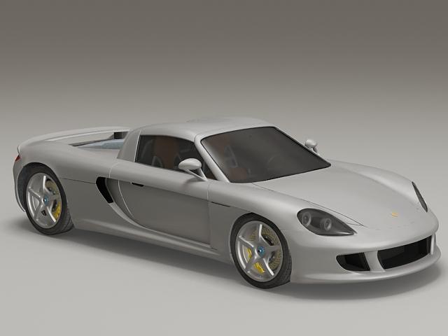 Porsche Carrera GT Car 3d model