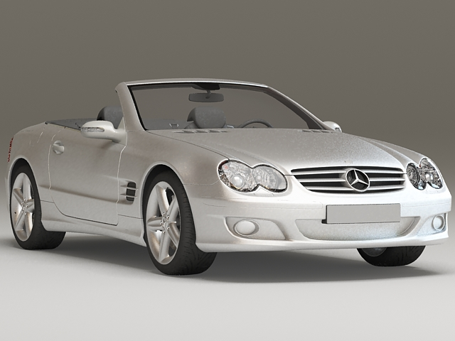 Mercedes-Benz SL 500 convertible 3d model