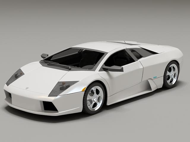 White Lamborghini Murcielago 3d model