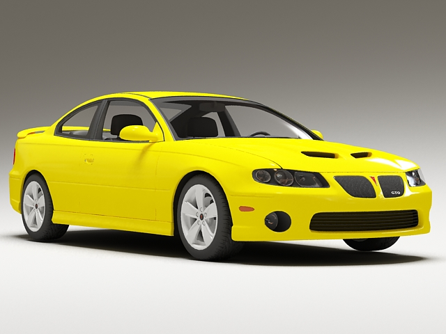 Pontiac GTO Yellow 3d model