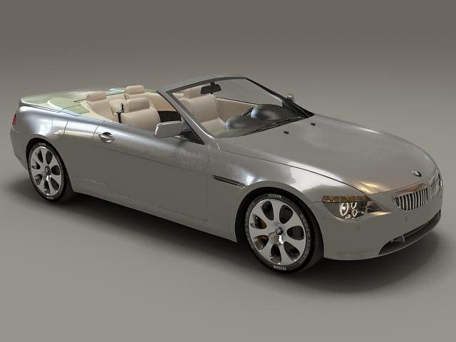 BMW 6 Series convertible 3d model