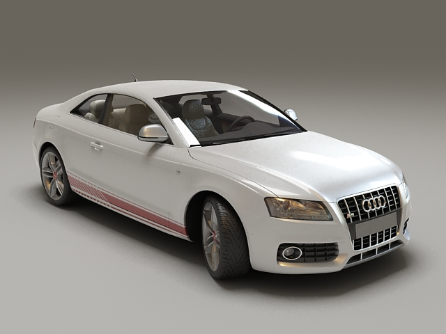 Audi S5 Coupe White 3d model