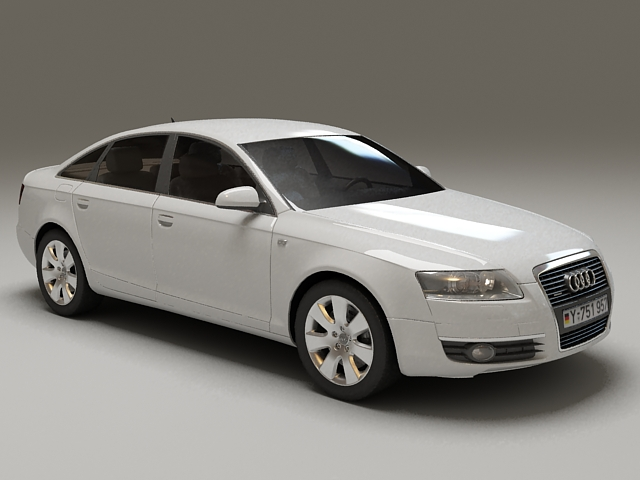2012 Audi A6 Hybrid 3d model