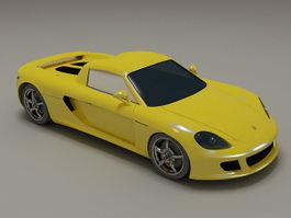 Porsche Carrera GT yellow 3d model