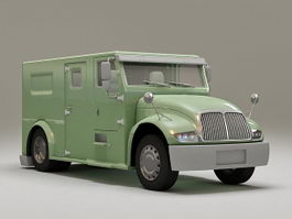 Armored money truck 3d model