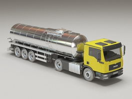 Chemical Tank Truck 3d model