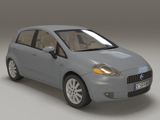 Fiat Punto supermini car 3d model