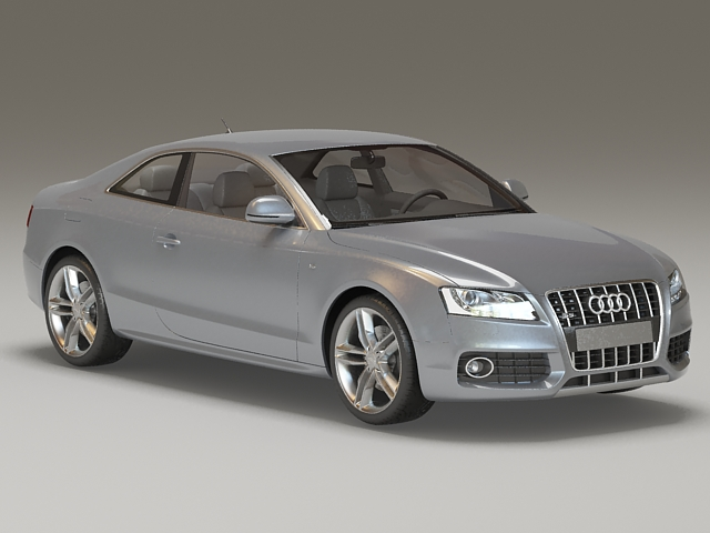 Audi S5 Coupe Gray 3d model