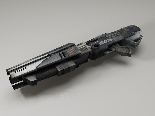 Sci Fi Gun Low Poly 3d Model 3ds Max Files Free Download