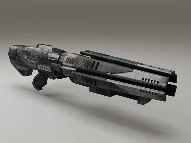 Sci-Fi Gun Low Poly 3d model