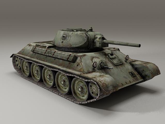 Russian T-34-76 Tank 3d model