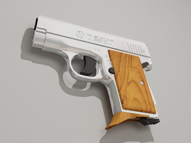 AMT Backup .380 Pistol 3d model