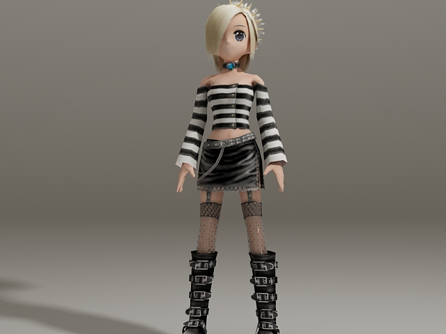 3d model of blonde - photo #45