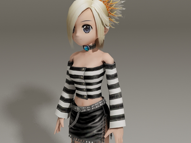3d model of blonde - photo #24